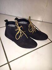 Primark Atmosphere Damen Stiefel 36 Blau Boots Schuhe Winter Stiefelette