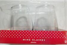 Set of 2 Stemless Wine Glass Glasses Grey