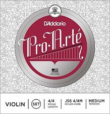 D'Addario Pro Arte Violin Strings J56 4/4 Nylon Core, Medium, One Set