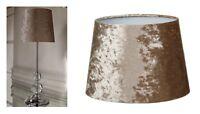 Luxe Velours Ecrasé Lampe de Table Chevet Tablelamp Doré - & Abat-Jour Paquet