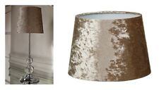 Luxe Crushed Velvet Table Lamp Bedside Tablelamp Gold - Lamp & Shade Bundle