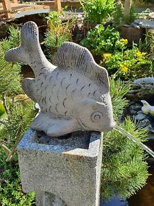 Teichfigur Wasserspeier Fisch/Koi