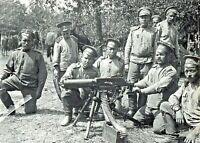 1915-Servicemen Grokhovsky Regiment of Imperial Russian Army Machine Gun PHOTO