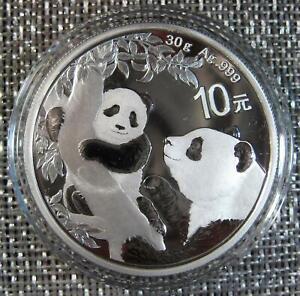 2021 - .999 Silver Chinese GIANT PANDA - 10 Yuan - GORGEOUS Proof-Like Premium