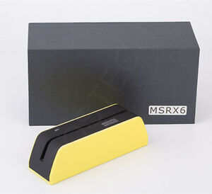Smallest MSR09 X6 Magnetic Stripe Swipe Card Reader Writer Com. MSR206/605 USB