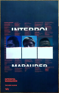 INTERPOL Marauder 2018 Ltd Ed New RARE Poster Display +FREE Indie Rock Poster!