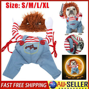 Pet Dog Cat Winter Clothes Halloween Party Fancy Dress Cosplay Funny Costume AU