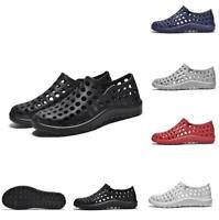 Men's Garden Rubber Sole Sandals Slip On Hole Summer Beach Sand Clogs Shoes New