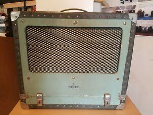 SIEMENS 2000 16mm Filmprojektor Verstärker Lautsprecher im Koffer 1