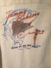 Tommy Bahama Embroidered Silk Shirt XXL (INVENTORY CLEARANCE)