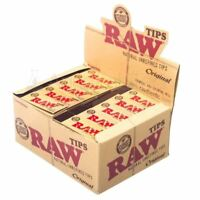 10 Units x Raw Rolling Paper Tips Original  Natural Unrefined Brand New