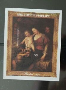 Sao Tome und Principe 1977 Weihnachten Block 7B o/Used/Gestempelt. Michel 25€