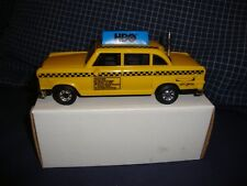 Classic New York City Old Fashion Yellow Taxi Cab toy 6 inch size Radio  AM-FM