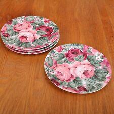 4 Salad Plates Block Spal Lyric Portugal Rose Garden