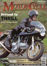 Classic Motorcycle Jan 05  Baines Racing Ducati900SS  Triumph Trophy    BSA C15