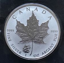 2016 Canada Panda Privy Maple Leaf 1oz Silver Canadian Reverse Proof Coin