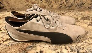 Puma Men's 10 Drift Cat 5 Casual Athletic  Sneakers Gray/ Black Suede 305703 04