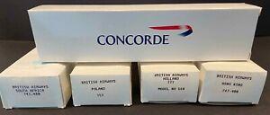 BRITISH AIRWAYS WOOSTER MODELS CONCORDE BOEING 747-400 757 767 WORLD TAIL FINS