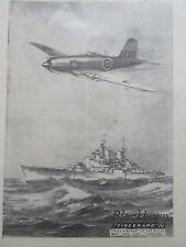 8/1946 PUB BLACKBURN FIREBRAND IV STRIKE AIRCRAFT ROYAL NAVY HMS VANGUARD AD