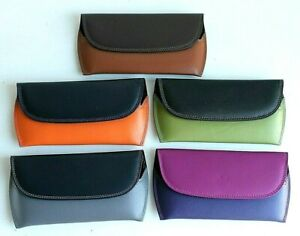 Golunski Leather Glasses Case with Velour Lining  *  Various Two Tone Colours