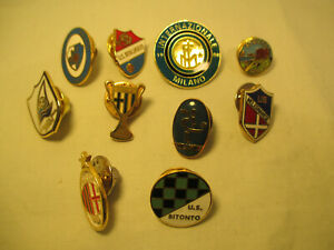 Italy Foot Ball Lapel Pin Convolute/Spilla As Calcio Italia: 10 Piece