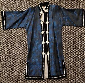 VTG Joli Traditional Japanese Kimono Gown Long Jacket Made in Japan Size Medium