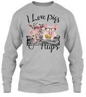 Pig- I Love Pigs And Naps.. - & Naps Gildan Long Sleeve Tee T-Shirt