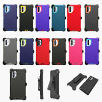 For Samsung Galaxy Note 10 + Plus 5G Defender Case Cover w/ Belt Clip