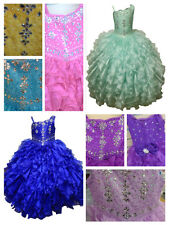 New Glitz Pageant National Girl Party Dress Ruffled/Princess> Sizes 4-16 SALE!!