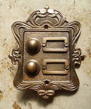 Geschenknet Antik Messing Klingel 2 Jugendstil Klingelschild Klingelplatte  K23A