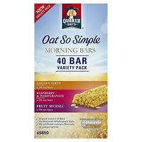Quaker Oat So Simple Morning Fiber Bar Variety Breakfast Pack of 40 Bars x 35gm
