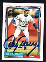 Doug Dascenzo #509 signed autograph auto 1992 Topps Baseball Trading Card