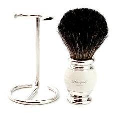Nuevo - 100% Puro Badger Cabello Brocha de afeitar de acero con soporte / Stand