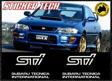 2X SUBARU TECNICA INTERNATIONAL STI FOG LIGHT COVER STICKER DECAL WRX GC8 MY99