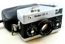 Vintage Rollei 35 S w/Sonnar 2.8/40mm Lens, Strap & Leather Zip Case