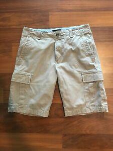 Banana Republic Men's Brown Twill Cargo Shorts, Size 31 Waste