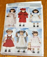 "Butterick Pattern #4699 - Clothes Wardrobe For 18"" Dolls - Pre-cut 6 Designs Guc"
