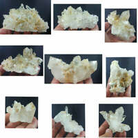 Iron & Mica Included Quartz Crystals Clusters from Baluchistan 8pcs 2.2kg