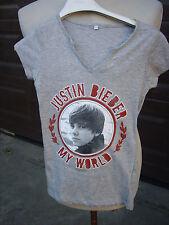 T SHIRT JUSTIN BIEBER maglietta taglia piccola per bambini