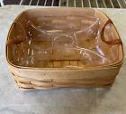 "Handmade Royce Craft Basket With Sorter Plastic Insert 12x11x4"" Made In Ohio"