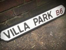 Villa Park Old Fashioned Wood Football Aston Street Sign Road Sign