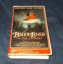 BLOODLINES VHS PAL ANTHONY PERKINS MIA SARA 1989