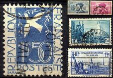 France 1934-39 Disc. of Canada, Liberty, Dove Sc#294, 296-297,321,372 Used