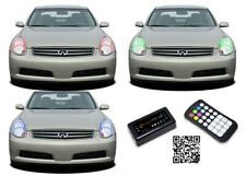 for Infiniti G35 05-06 RGB Multi Color Bluetooth LED Halo kit for Headlights