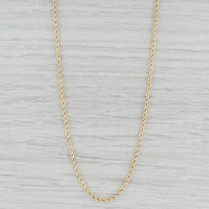 """New Rope Chain Necklace 14k Yellow Gold 24.5"""" 2.1mm"""