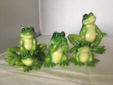 Set Of 3 Vintage Retro Kitsch Frogs Leonardo Collection