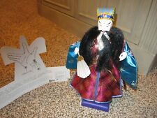 """Zhuge Liang Chinese Figurine Hand Puppet in Traditional Costume 11"""" Tall"""