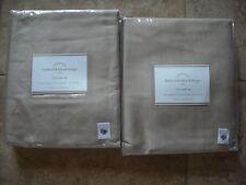 "POTTERY BARN 2 Linen Silk Blend Pole Pocket Drape Panels 50 x 84"" - Taupe NEW"