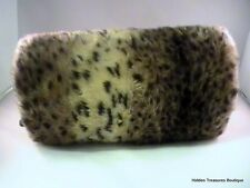 Women's Faux Fur Muff Hand Warmer Cheetah Animal Print Beautiful