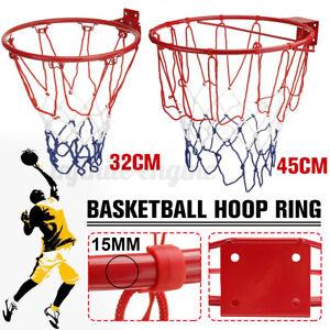 32CM/45CM Pro Size Wall Mounted Basketball Hoop Ring Goal Net Rim Du